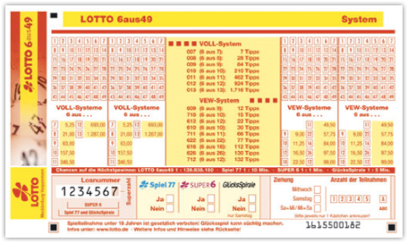lotto system 8 aus 49